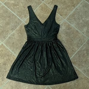 Black and gold one clothing Los Angeles dress.